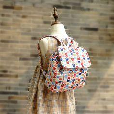 Free Shipping Kids Backpack Toddler Teen's Girl's Boy's Bag Handmade by Japanese Kokka Fabric on Etsy, $38.00