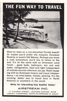 Lake Canoe Vintage Print Ad 1968 Airstream