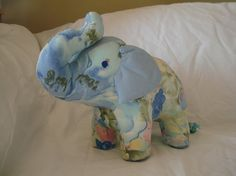 Blue Baby Elephant Plush by FisherGirls on Etsy, A Vancouver Island Etsy Team member.
