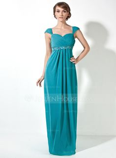 Bridesmaid Dresses - $126.99 - Empire Sweetheart Floor-Length Chiffon Bridesmaid Dress With Ruffle Beading (007001466) http://jenjenhouse.com/Empire-Sweetheart-Floor-Length-Chiffon-Bridesmaid-Dress-With-Ruffle-Beading-007001466-g1466
