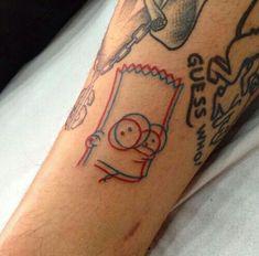 Simpsons Tattoo Design Ideas – Idées Maxx créatives – Art & Design Id… Red Tattoos, Mini Tattoos, Body Art Tattoos, Small Tattoos, Cool Tattoos, Tatoos, Cartoon Tattoos, Simpsons Tattoo, Tatto Design