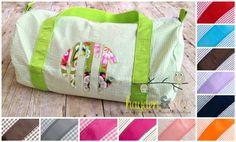 Applique Seersucker or Gingham Duffel Bag - $28.50 - www.haydenandjules.com