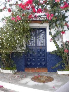 Blue door, Torrox Pueblo, Andalusia, Spain.