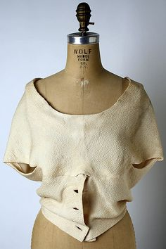 Cristobal Balenciaga Evening Blouse  1960s  cb length 19""