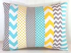 Pillow Cover Nursery Pillow Cover Patchwork by theredpistachio, $22.50