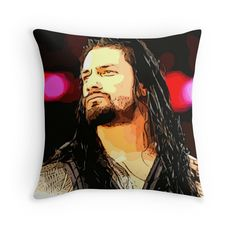Roman Reigns WWE Throw Pillow <3 i have to HAVE that pillow