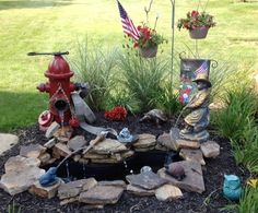 Fire service hydrant pond & fountain