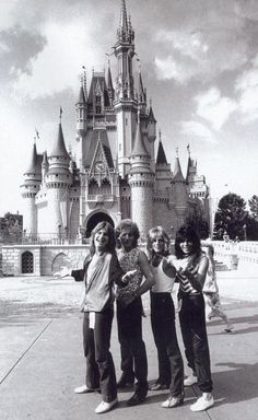 The Ozzy Osbourne crew at Disney World, so much awesomeness in this photo.