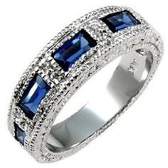 royal.blue wedding bands | Royal Blue Sapphire Ring