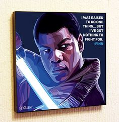 Finn StarWars Super Hero Motivational Quotes Wall Decals Pop Art Gifts Portrait Framed Famous Paintings on Acrylic Canvas Poster Prints Artwork Geek Decor Wood * For more information, visit image link.