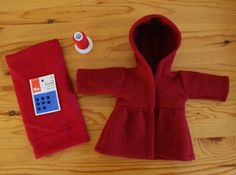 Sewing Pattern and Tutorial for Doll Hooded Coat by Mariengold. , via Etsy.