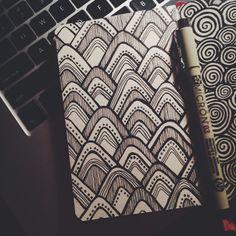 Simple designs in Moleskin http://tumblr.com/lauren-salgado