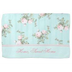 Shabby chic kitchen towel Home, sweet home, custom