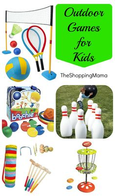 Awesome Outdoor Games for Kids - get ready for summer fun!