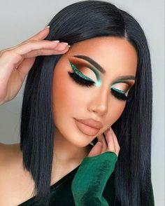 Cute Eye Makeup, Dramatic Makeup, Gorgeous Makeup, Skin Makeup, Eyeshadow Makeup, Glamour Makeup Looks, Fall Makeup Looks, Makeup Beauty Room, Dance Makeup