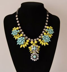 High quality Crystal floral necklace Crystal floral by shop2lopez, $17.49