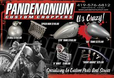 Pandemonium Online Store XS650 and V-Twin Custom Parts