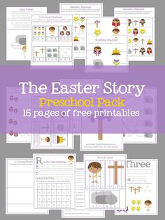 Help your little ones learn the story of Easter from the Bible with a FREE pack of printable Easter activities from Mary Martha Mama. Designed for preschool