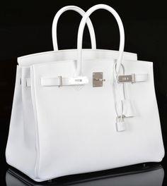 Herms Birkin Bag 35cm White Epsom Palladium Hardware