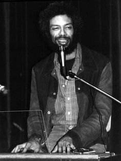 Gil Scott-Heron............................... photo by Jamel Shabazz, From Back in the Days, 1980s