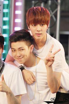Image de bts, jin, and rap monster