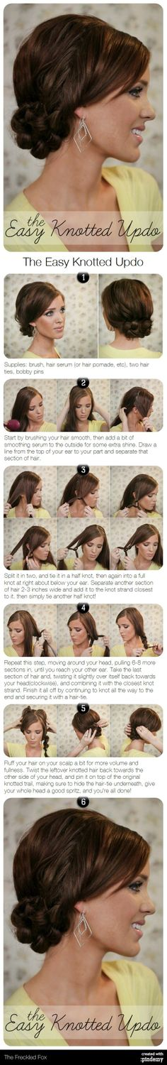 The Easy Knotted Updo Hair Tutorial Gorgeous!
