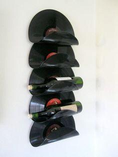 Ideias para reciclar discos de vinil - garrafeira