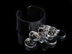 plexiglass black transparent cuff, bracelet !! from my ETSY shop called ninouninou