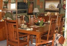 Craftsman dining room furniture Quartersawn White Oak @King's Homestead