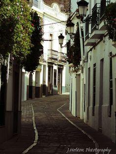 Street in Olivenza (Badajoz) Spain