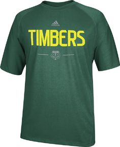 Portland Timbers Dark Green Climalite Authentic Practice T Shirt by Adidas $34.95