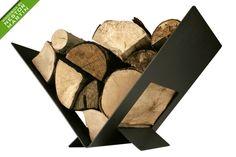 Portalegna a pavimento Nestor Martin - Zetalinea SRL Firewood Stand, Firewood Holder, Firewood Storage, Log Store, Log Holder, Log Burner, Bbq Grill, Make And Sell, Metal Art