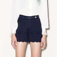 Perf shorts!  The belt is a good idea...