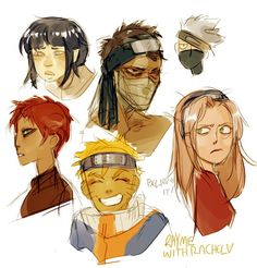 Naruto characters by RhymewithRachel