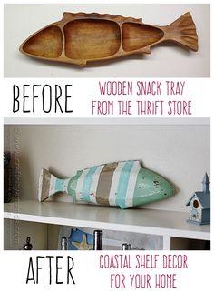 Striped Coastal Fish Decor by Amanda Formaro, Crafts by Amanda