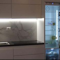 Cucina su misura con frigo Smeg - Cucine su misura di Creo Casa Milano, progetti, arredamento