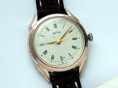 Mid century classic men's watch chunky Soviet men by expander12