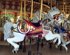 National Carousel Association - Cinderella's Golden Carrousel - PTC Outside Row Jumper
