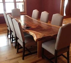 dining table from tree slab