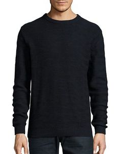 Selected Homme Textured Cotton Sweater Men's Dark Sapphire XX-Large