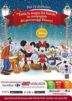 Tutta la magia del Natale con i personaggi Disney. Dal 12 Dicembre vivi anche tu un Natale da favola in compagnia dei nostri simpatici amici.