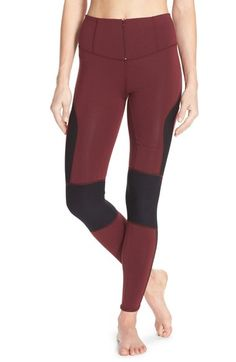 """Free People """"Cool Rider"""" Front Zip Leggins / $128 at Nordstrom / 48.5"""" Inseam small, 88"""" Nylon, 12""""spandex"""