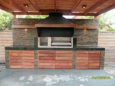 Pergola With Retractable Roof Key: 6102697103 Casa Patio, Pergola Patio, Pergola Kits, Outdoor Rooms, Outdoor Living, Outdoor Decor, Parrilla Exterior, Built In Braai, Bbq Kitchen