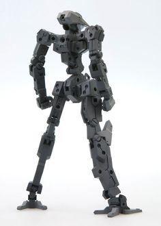 フレームアームズシリーズの核となる、フレーム(素体)を単体で商品化致しました。メカデザインは「柳瀬 敬之」氏。 このフレームを基本として、外装(アーマー)を装備することにより、ロボットは完成していきます。素体各所の接続部を活用し、貴方だけのオリジナルロボットを作り出すことが可能です。