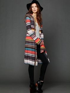 Hooded Color Spectrum Cardigan from Free People.
