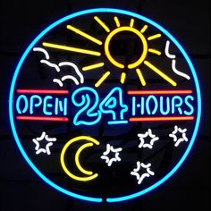 5OPENX  <br>Open 24 Hours Neon Sign