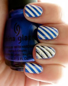 cool stripe nail art with best polish by connie