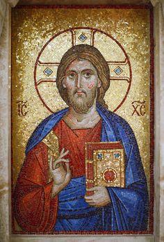 Isus Hristos, Autor Vasilisa Janojkić Orthodox Icons, Greece, Mosaic, Faith, Painting, Author, Greece Country, Mosaics, Painting Art