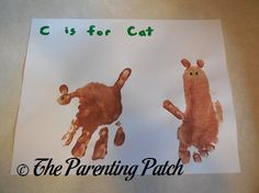 C Is for Cat Handprint and Footprint Craft | Parenting Patch