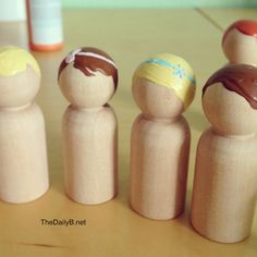 The Daily B: wooden peg people DIY